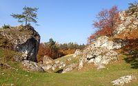 Wśród skał na Górze Zborów