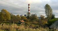 W oddali obiekty elektrowni Pomorzany