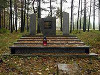 Pomnik na cmentarzu rosyjskich i niemieckich żołnierzy