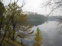 Lekko mglista jesień na stawikach w Sosnowcu