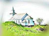 kosciol, wyspa Karmøy