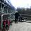 Mostek w Koronowie wieczorowo listopadowwą porą