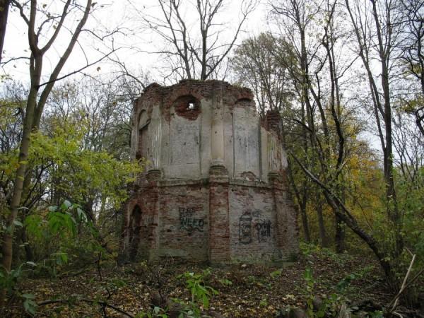 Ruiny pałacyku w Morysinie