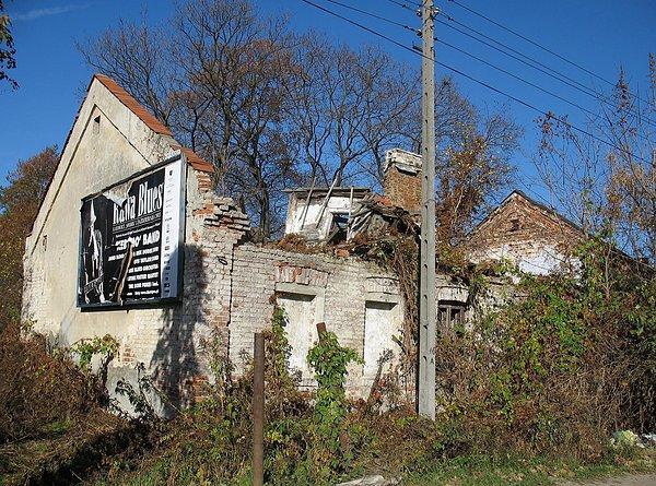 Ruiny domu w Markach