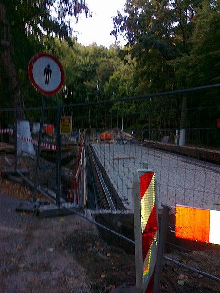 Remont mostu w Lipkowie