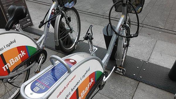 Łódź rower publiczny