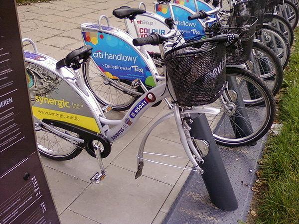 Rower publiczny bez koła