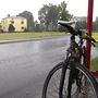 Postój na przystanku w Rudyszwałdzie. Nie pierwszy postój w tym miejscu, często tu mnie dopada burza, deszcz