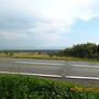 Zamglona panorama Tatr ze Słowacji