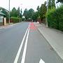 Kontrapas dla rowerów na ulicy Laskonogiego we Włochach